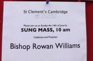 Cambridge RW sign